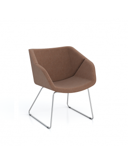 Isotta Soft Armchair - Sled